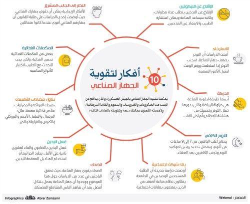 10 أفكار لتقوية الجهاز المناعي Health Advice Health Remedies Health