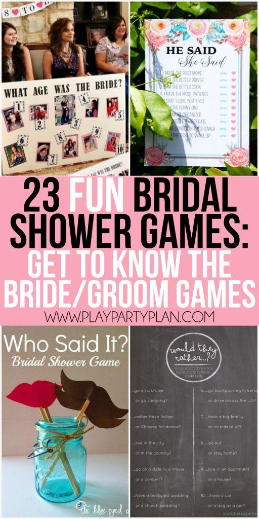 23 more fun bridal shower games fun bridal shower games couple and shower games. Black Bedroom Furniture Sets. Home Design Ideas