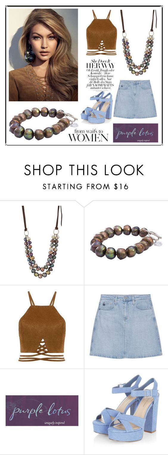 """SHOP - Purple Lotus Jewelry"" by ladymargaret ❤ liked on Polyvore featuring AG Adriano Goldschmied"