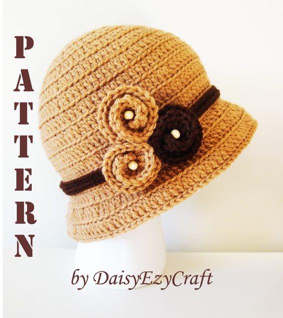 Crochet Bucket Cloche Pattern $5