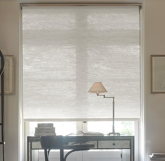 Natural roller shade custom shades restoration for Restoration hardware window shades