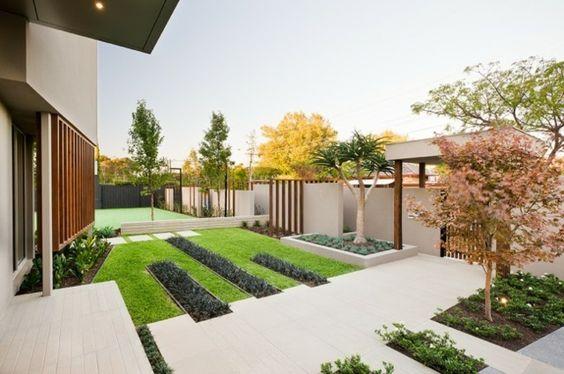 jardin concept minimaliste intéressant