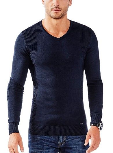 Men's Knits Online | V-Neck Sweater | GUESS Australia