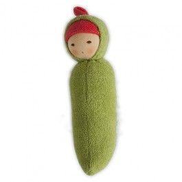 Organic Rattle Doll - Peapod!