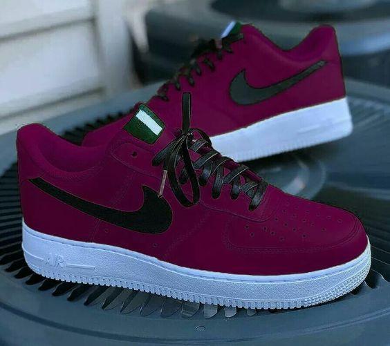 Nike Air Force One 1 Low Custom Red Bandana Scarpa Da Uomo