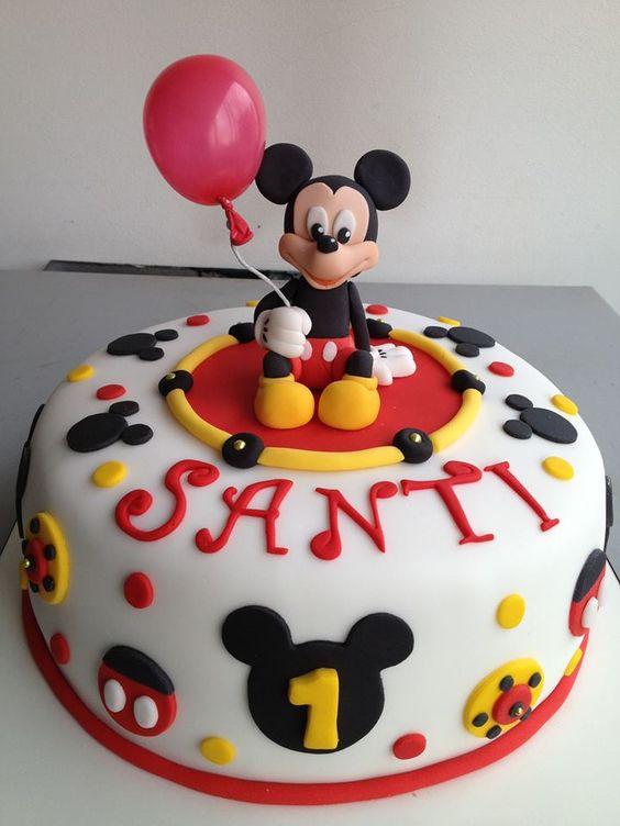 Torta Mickey Fiestas De Cumplea 241 Os Mickey Minie Pinterest