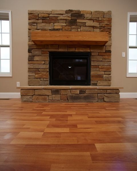 Raised Hearth Fireplace Designs: Classic Fireplace With Raised Hearth