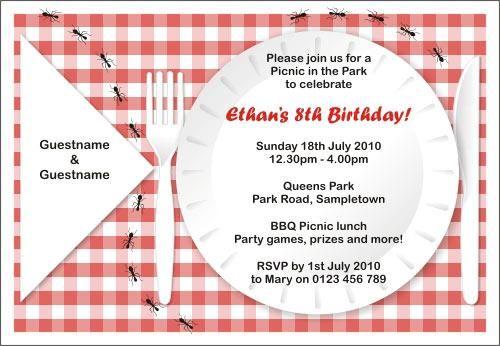 picnic invites templates