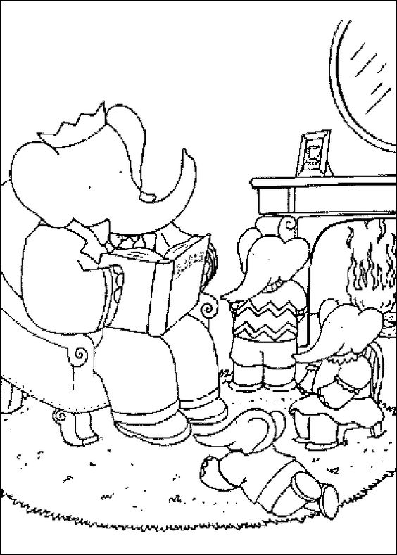 Babar - lots of cute Babar coloring pages in this link | Coloring ...