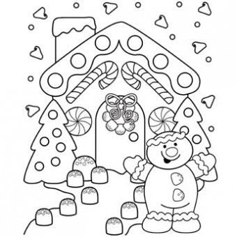 Santas House Coloring Pages Gingerbread Lane Page Free