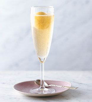 Peach and Prosecco Ice