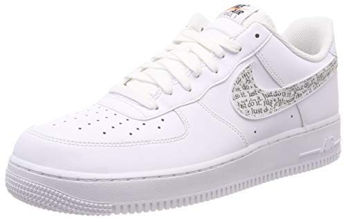Nike Men S Air Force 1 07 Lv8 Jdi Lntc White White Black Sneakersletstalkfashion Sneakers Nike New Nike Air Force Sneakers