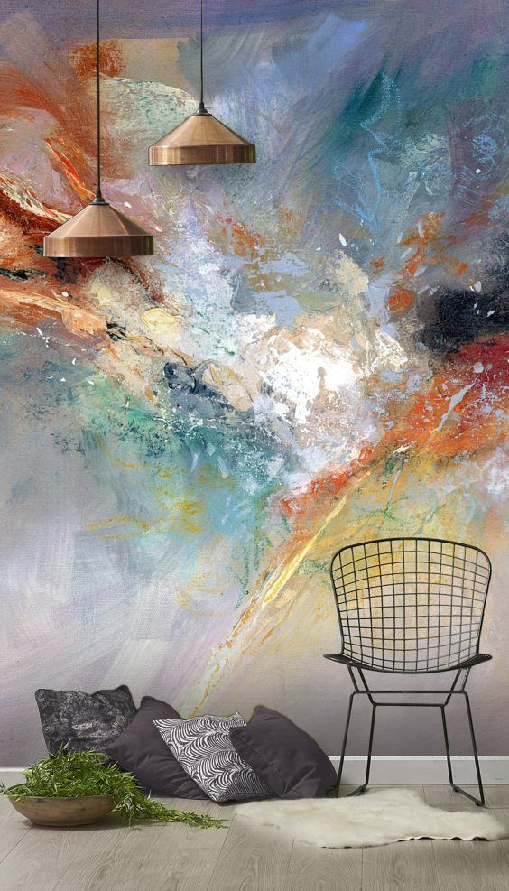 Stunning Celestial Wall Mural By Anne Farrall Doyle At Wallsauce This High Quality Celestial Wallpaper Is Custo Mural Wallpaper Wall Murals Abstract Wallpaper