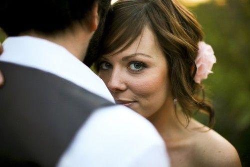 Perfect wedding hair.