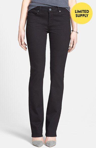 Paige Denim 'Skyline' Straight Leg Stretch Denim Jeans (Black)(Online Only)   Nordstrom