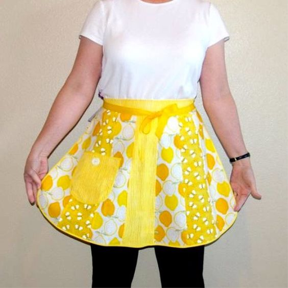 Sunshine and Lemons Retro Petal Half Apron-One Size. $22.50, via Etsy.