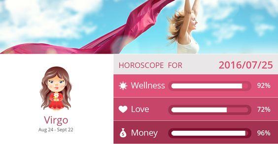 Virgo Wellness, Love and Money predictions for 2016/07/25. PIN/LIKE if accurate. #virgo, #horoscope, #horoscopes, #astrology