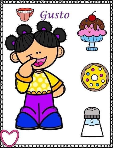 Tareitas Sentido Del Gusto Los Cinco Sentidos En Preescolar Los Sentidos Para Ninos Dibujos Para Preescolar