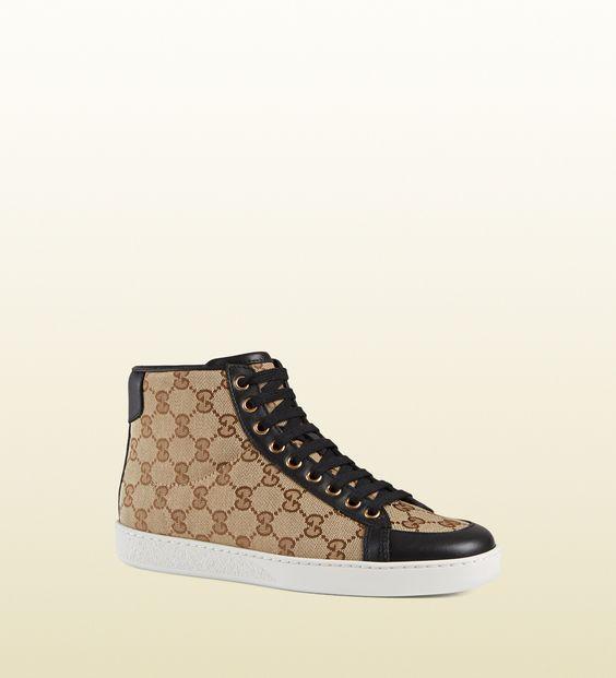 Brooklyn Original Gg Canvas High Top Sneaker 338888ftaz09767 Sneakers Nice Shoes High Top Sneakers