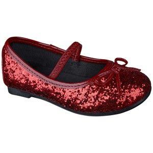 Target Mobile Site - Toddler Girl's Cherokee® Jaray Glitter Ballet - Red