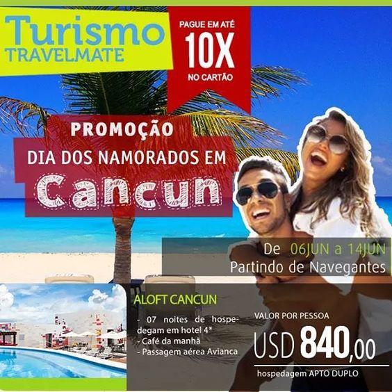 Promoção Dia dos Namorados! Entre em contato para mais informações! #diadosnamorados #promoção #mexico #cancun #travelmatebrasil