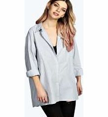 boohoo Aleena Oversized Fine Stripe Cotton Shirt - grey Work I just woke up like this vibes in this borrowed from the boyfriend style shirt . Oversized, its perfect for layering over a cami top , with ripped skinny jeans and new season slip ons . http://www.comparestoreprices.co.uk/womens-clothes/boohoo-aleena-oversized-fine-stripe-cotton-shirt--grey.asp