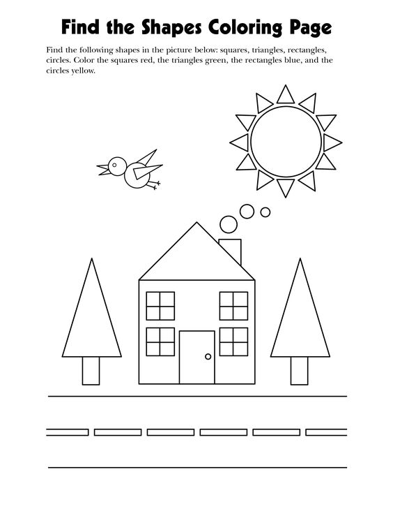 coloring and learning the shapes wir lernen die formen kindergarten schulbesuchstage