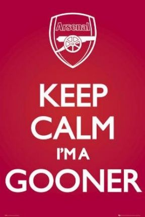 (24x36) Arsenal FC Keep Calm I'm a Gooner Sports Poster Print