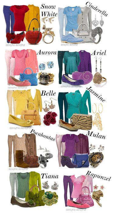 Casual princess outfits! Love it: