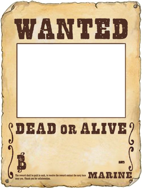 Make your own wanted poster tutorial how ro make your for Wanted pirate poster template