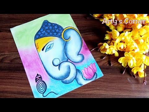 How To Draw Ganpati Drawing Easy Ganpati Drawing For School Competition Step By Step Arty S Corner Youtube Easy Drawings Ganpati Drawing Drawings
