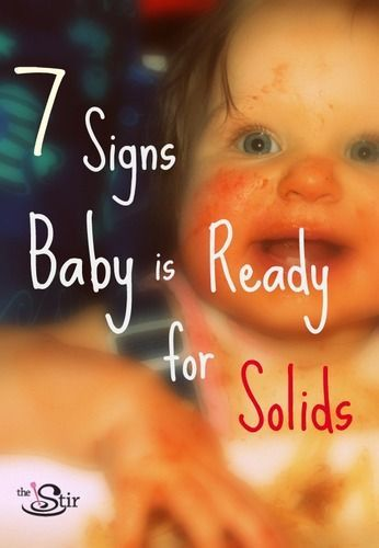 Is your baby ready for solid food yet? Easy tips to tell http://thestir.cafemom.com/baby/156289/7_signs_your_baby_is?utm_medium=sm_source=pinterest_content=thestir