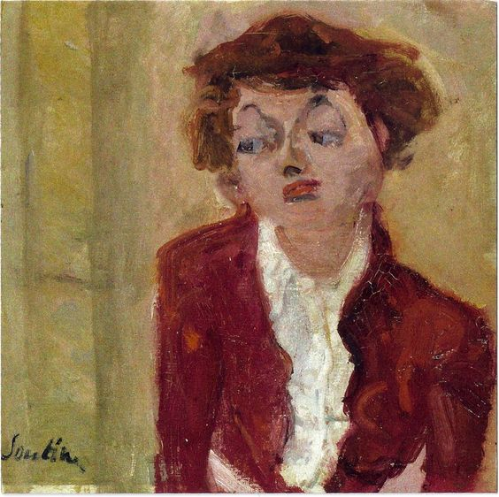 La Jeune Anglaise. Chaim Soutine (1893-1943) was a French painter of Belarusian Jewish origin who made a major contribution to the expressionist movement while living in Montparnasse. Soutine developed an individual style more concerned with shape, color, and texture over representation, which served as a bridge between more traditional approaches and the developing form of Abstract Expressionism.:
