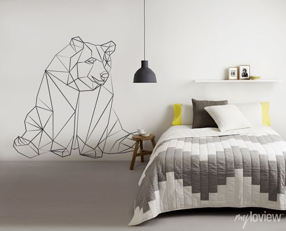 Geometric bear Bears and Stickers on Pinterest