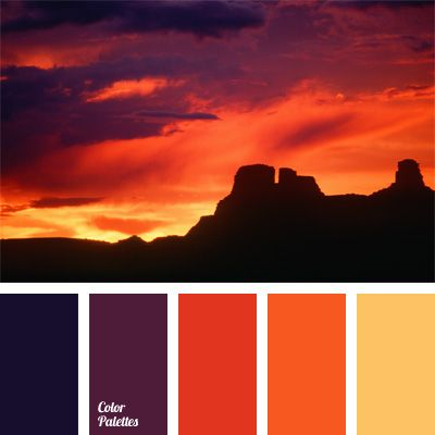 This contrast languid combination of blue purple and - Violet and orange combination ...