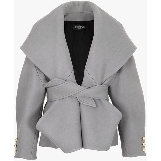 Wool and cashmere belted coat | Women's coats | Balmain ($4690