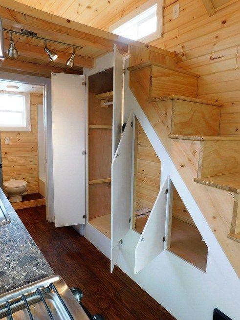 Melinda S Tiny House Mansion By Tiny Idahomes Tiny House Loft Tiny House Stairs Tiny House Builders