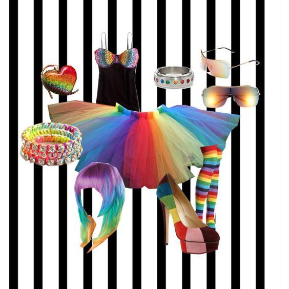 """rainbowBRIGHT"" by breibreibj on Polyvore"