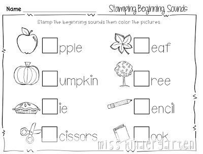 math worksheet : busy busy busy!  miss kindergarten printables and beginning sounds : Letter Sound Worksheets Kindergarten