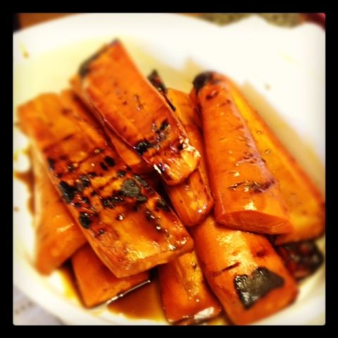 Balsamic honey grilled carrots #recipe