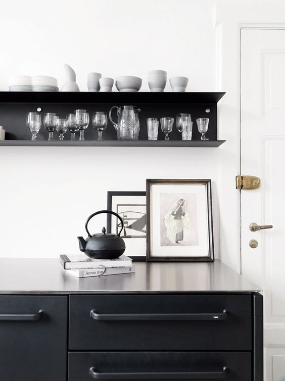Vipp Black Kitchen Via Ollie Sebs Haus