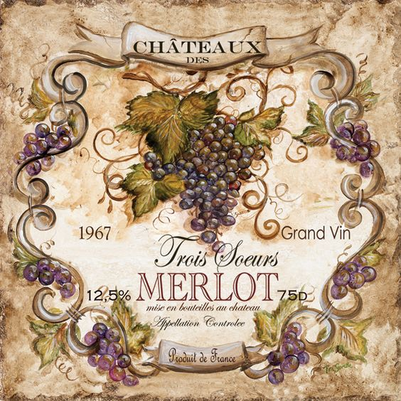 Wine Label Merlot 1.: