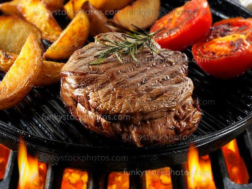 Steak Recipe Food Pictures Stock Photos - by By food photographer Paul Williams. http://www.funkyfood.co.uk