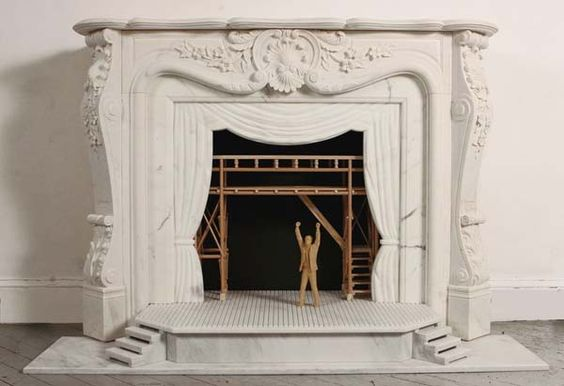 What a clever and whimsical filler for a decorative fireplace. Great for kids rooms.: