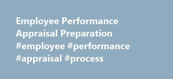 Employee Performance Appraisal Preparation #employee #performance - appraisal order form