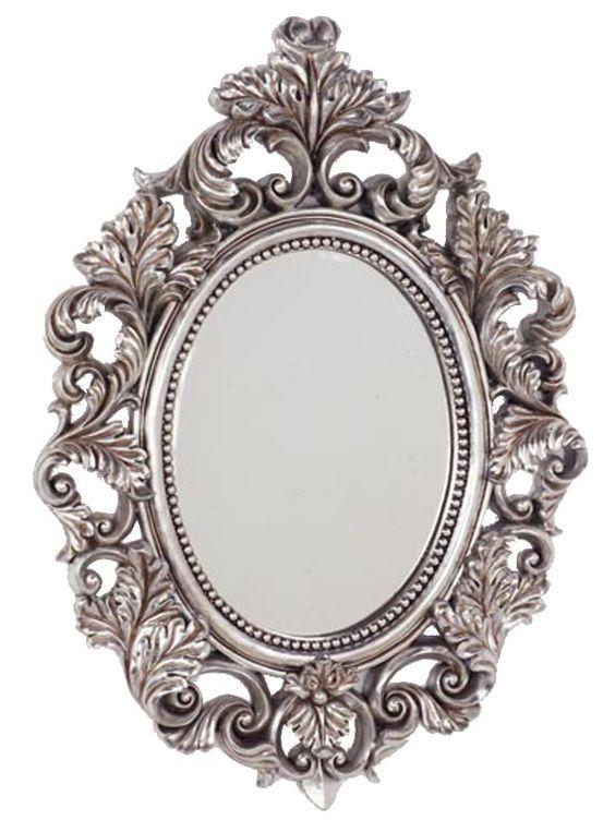 Espejo ovalado plateado espejos con estilos mooimaak for Espejos con marco plateado