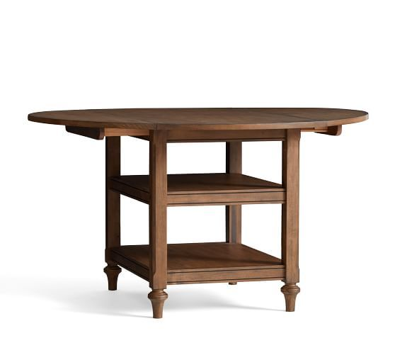 Shayne Drop-Leaf Kitchen Table, Salvaged Black | Pottery ...
