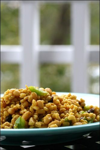 Spiced Raisin and Pine Nut Barley Salad  | Recipes + Healthy Living