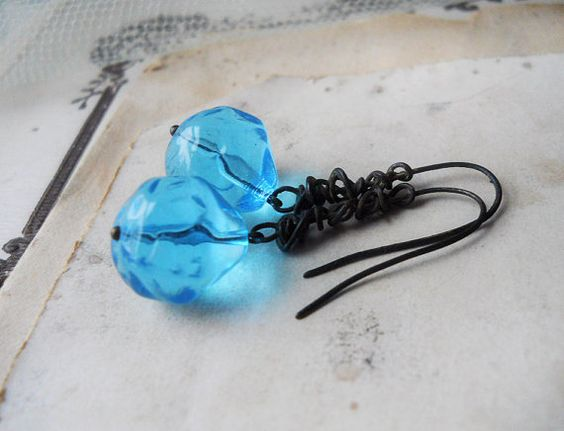 SALE  Rustic Beaded Earrings  Vintage Bead by shipwreckdandy, $18.00
