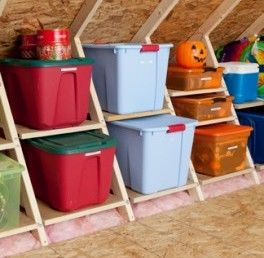 Storage bin solutions for all of your holiday needs by AtticMaxx